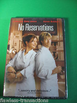 NO RESERVATIONS 2008 Full Wide Screen DVD Cathrine Zetajones Eckhart NEW Sealed