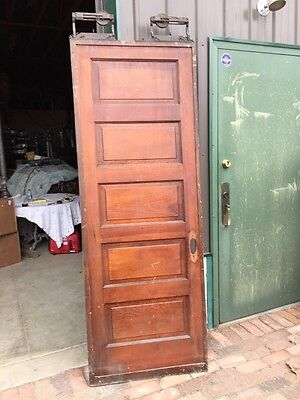 Rd 6 Antique Raised Panel Single Pine Pocket Door