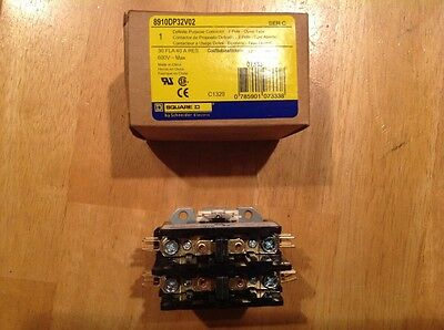SQUARE D 8910DP32V02 DP Compact Contact, 2 pole, open type, NEW