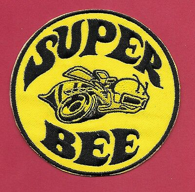 """New Dodge 'SUPER BEE' Yellow  3"""" Inch  Iron on patch Free Shipping Mopar"""