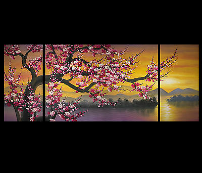 Japanese Cherry Blossom Painting Abstract Art on canvas Framed Fine Art Prints