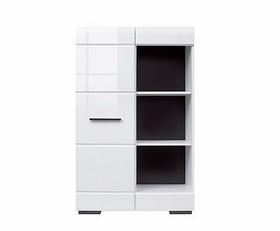 White Gloss Cabinet Sideboard Display Unit Living Room Furniture Fever Black