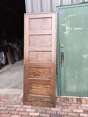 Rd 24 One Oak Antique Flat Panel Pocket Door