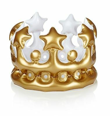 Inflatable Crown King for the Day Gold Tiara Stag Novelty Costume
