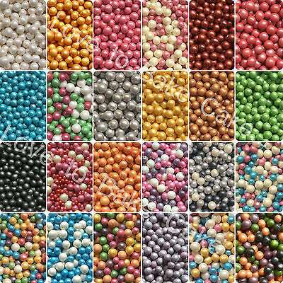 EDIBLE CRISPY PEARLS / BALLS  6-8mm - Edible Sugar Sprinkles Cake Decoration