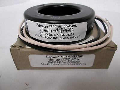 Simpson Electric Co. 01299 1T851 Current Transformer