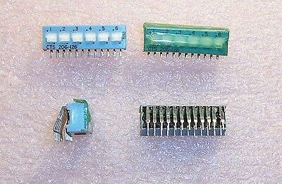 Qty (34) 206-126 Ra Cts 6 Position Right Angle Dip Switch Spdt Sealed Nos