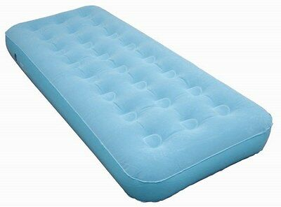 FREEPOST Single Flocked Velour Air Bed Inflatable Mattress Camping Mat bestway