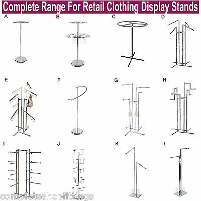 Professional Heavy Duty Clothing Retail Display Stands Garment Dress Shop Rails