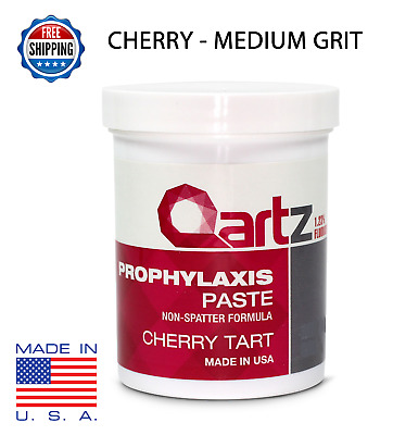 MEDIUM GRIT CHERRY TART QARTZ PROPHY PASTE DENTAL PROPHYLAXIS -340g (12oz) Jar