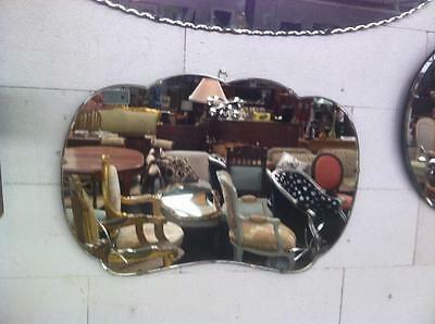 Art Deco Style Cloud Shaped Wall Mirror With A Bevelled Edge And Etched Design