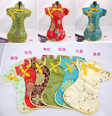 Wholesale 20pcs Chinese Handmade Vintage Clothes Style Silk Wine Bottle Cover