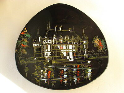 Longwy Hand Decorated Plate France French Paul Mignon 1950s