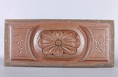 Antique French salvaged wood carved Piece