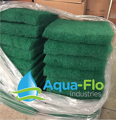 "Aqua-Flo Two-Pack Green Pond Filter Mat/Media/Pad 12""x12"" water garden-skimmer"