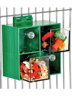 "4-Drawer Foraging Toy for Larger Parrots 6""x6"" (Greys,Eclectus,Macaws) JK734"