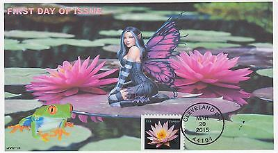 Jvc Cachets-2015 Water Lilies Issue First Day Cover Fdc Frogs Fairies Topical #1