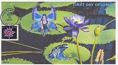 Jvc Cachets-2015 Water Lilies Issue First Day Cover Fdc Frogs Fairies Topical #3