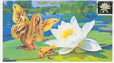 Jvc Cachets-2015 Water Lilies Issue First Day Cover Fdc Frogs Fairies Topical #4