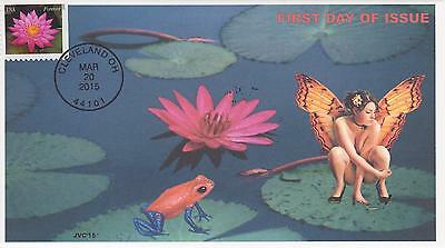 Jvc Cachets-2015 Water Lilies Issue First Day Cover Fdc Frogs Fairies Topical #2