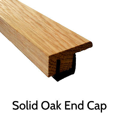 Solid Oak Threshold 'End Cap' 0.9m Section Door Trim Strip Transition Profile