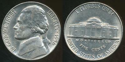 United States, 1956 5 Cents, Jefferson Nickel - Uncirculated