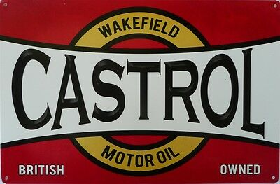 WAKEFIELD CASTROL MOTOR OIL BRITISH OWNED 445 x 294 ALL WEATHER GARAGE SIGN