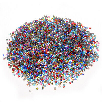 1440 Pcs S10 Iron On Hot-Fix Hotfix Rhinestones Crystal Beads DIY Craft Decor