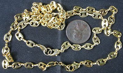 Goldtone Fancy Links Necklace & Bracelet Set 18""