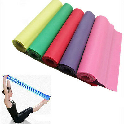 1.2m Elastic Yoga Pilates Rubber Stretch Resistance Exercise Fitness Band 2017