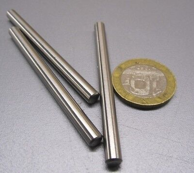 """18-8 Stainless Steel Dowel Pins 3/16"""" Dia x 2 1/2"""" Length, 10 Pieces"""