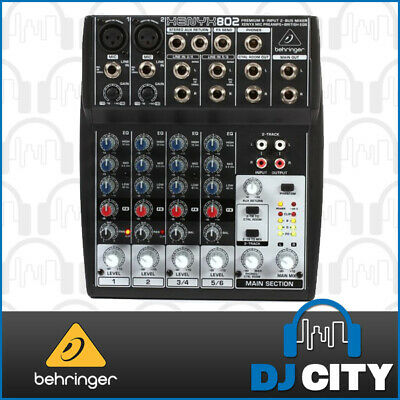 802 Behringer Xenyx 8 input PA mixer with mic preamps