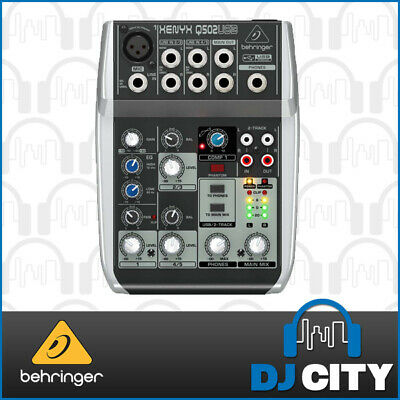 Behringer Xenyx Q502USB 5 Input PA Mixer with USB Audio Interface
