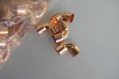 "10pcs 3/8""90 degree short radius copper elbow CXC  for HVAC copper fittings"