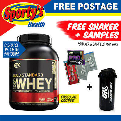 Optimum Nutrition 100% Whey 5lb Gold Standard WPI WPC Protein Chocolate Coconut