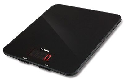 Salter 1150 BKDR Electronic Aquatronic Kitchen Scale - Black Glass