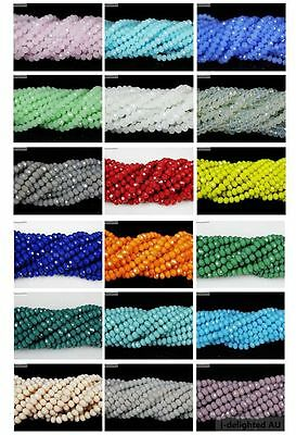 100pcs Czech Crystal 2mm x 3mm Faceted Rondelle Beads For Bracelet Necklace