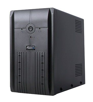 Powercool Smart UPS 1200VA - 3 x UK Plug, 3 x IEC, 2 x RJ45, USB, LED Display