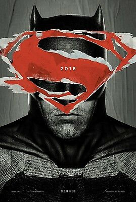 Batman V Superman Dawn Of Justice STYLE A double sided ORIGINAL MOVIE POSTER