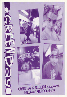 Poster : Music : Green Day - Purple/white - Free Shipping !      Rw22 G