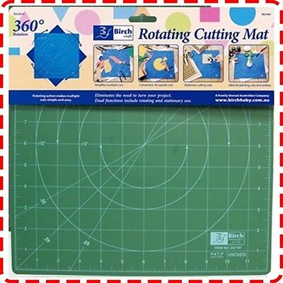 Birch 30x30cm Rotating Cutting Mat - Self Healing Quilting Patchwork Craft Ruler