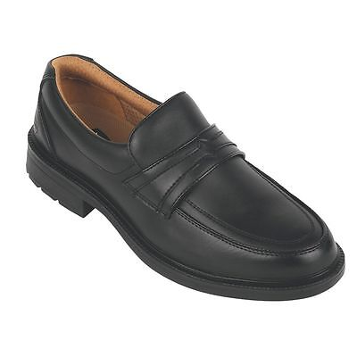 NEW City Knights Slip-On Executive Safety Shoes Black Size 10