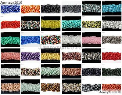 Natural Gemstones 2mm 3mm Round Spacer Seed Loose Beads 15.5'' Jewelry Design
