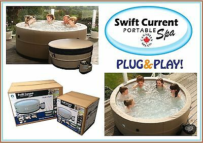 Swift Current 5-personnes SPA portable - brun clair