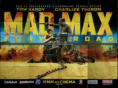 MAD MAX FURY ROAD Affiche Cinéma GEANTE / Movie Poster George Miller 400x320