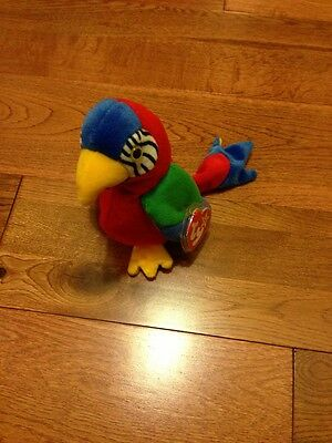 Ty Beanie Baby Babies Original Jabber The Parrot Brand New Rare Vintage