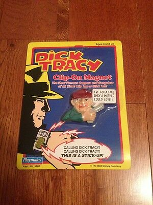 Dick Tracy Clip On Magnet Figure New Rare Playmates Disney 1990