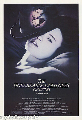 Poster:movie Repro: Unbearable Lightness Of Being - Free Ship #6219   Rw24 Q