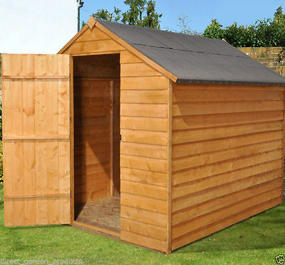 8x6 WOOD GARDEN SHED WINDOWLESS APEX WOODEN SHEDS  BUDGET STORAGE New 8ft x 6ft