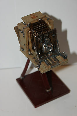 "Antique Bellows Camera on Tripod, Desk Ornament, NIB, Beautiful Detail, 5.62""H"